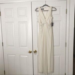 Nine West ivory long dress size 6